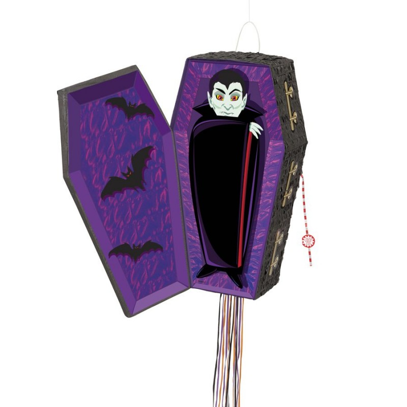 Pinata cercueil vampire Halloween