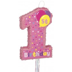 Pinata anniversaire 1 an fille