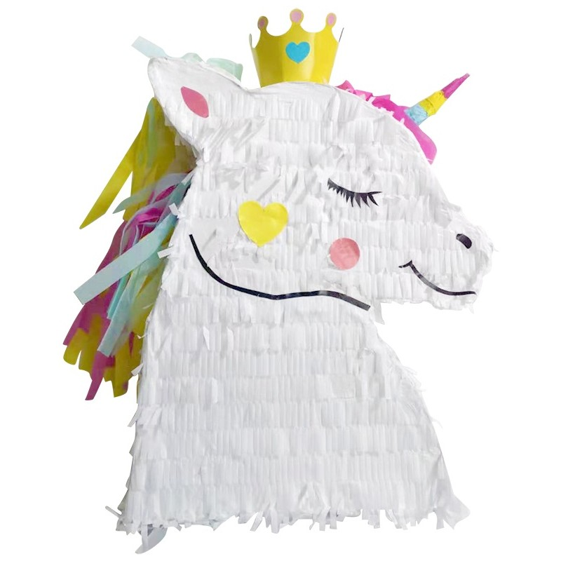 Pinata tête de licorne
