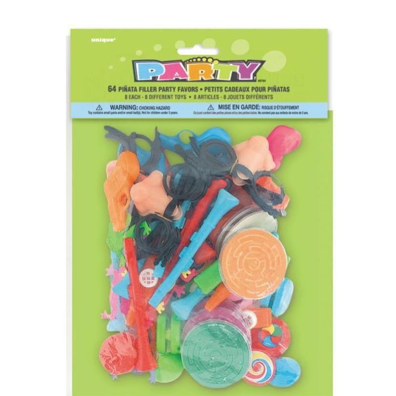 Sachet de 64 jouets pour piñata